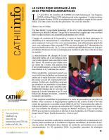 Le bulletin du Centre d'action contre la traite humaine interne et internationale.